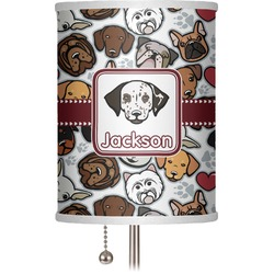 "Dog Faces 7"" Drum Lamp Shade (Personalized)"
