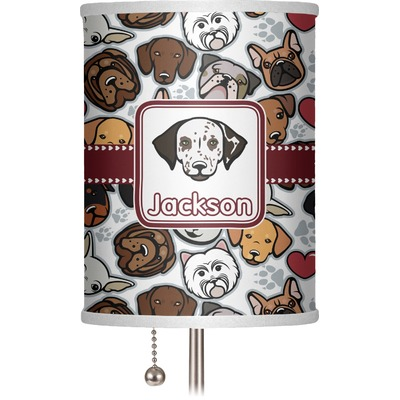 """Dog Faces 7"""" Drum Lamp Shade (Personalized)"""