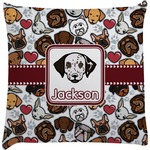 Dog Faces Decorative Pillow Case (Personalized)