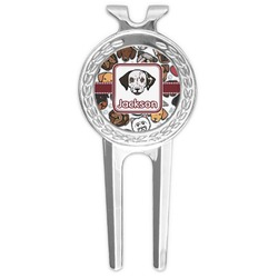 Dog Faces Golf Divot Tool & Ball Marker (Personalized)