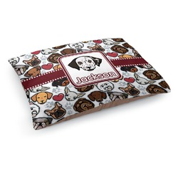 Dog Faces Dog Pillow Bed (Personalized)