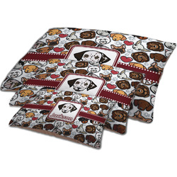 Dog Faces Dog Bed w/ Name or Text
