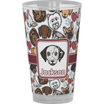Dog Faces Drinking / Pint Glass (Personalized)