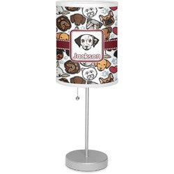 "Dog Faces 7"" Drum Lamp with Shade (Personalized)"