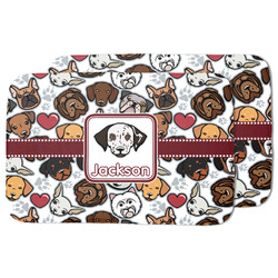 Dog Faces Dish Drying Mat w/ Name or Text