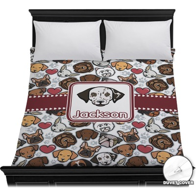 Dog Faces Duvet Cover (Personalized)