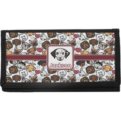 Dog Faces Canvas Checkbook Cover (Personalized)