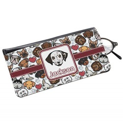 Dog Faces Genuine Leather Eyeglass Case (Personalized)