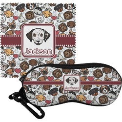 Dog Faces Eyeglass Case & Cloth (Personalized)
