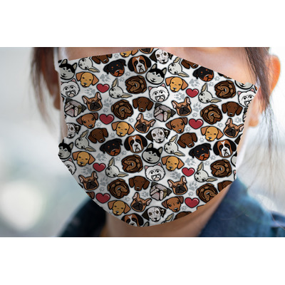 Dog Faces Face Mask Cover (Personalized)