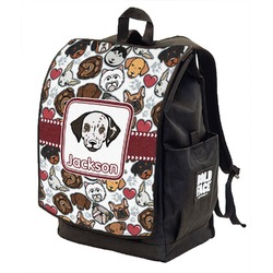 Dog Faces Backpack w/ Front Flap  (Personalized)