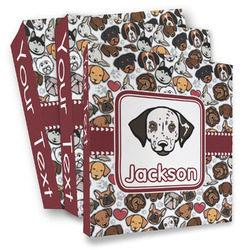 Dog Faces 3 Ring Binder - Full Wrap (Personalized)