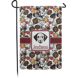 Dog Faces Garden Flag - Single or Double Sided (Personalized)
