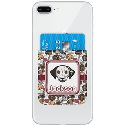 Dog Faces Genuine Leather Adhesive Phone Wallet (Personalized)