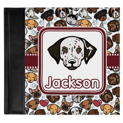 Dog Faces Genuine Leather Baby Memory Book (Personalized)