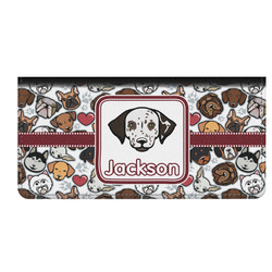 Dog Faces Genuine Leather Checkbook Cover (Personalized)