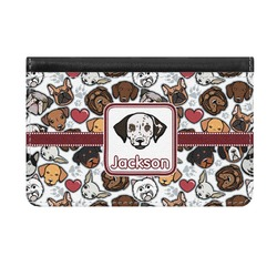 Dog Faces Genuine Leather ID & Card Wallet - Slim Style (Personalized)