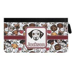 Dog Faces Genuine Leather Ladies Zippered Wallet (Personalized)