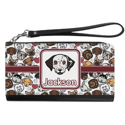 Dog Faces Genuine Leather Smartphone Wrist Wallet (Personalized)