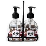 Dog Faces Soap & Lotion Dispenser Set (Glass) (Personalized)