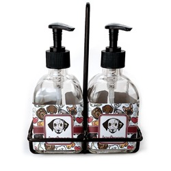 Dog Faces Glass Soap & Lotion Bottles (Personalized)