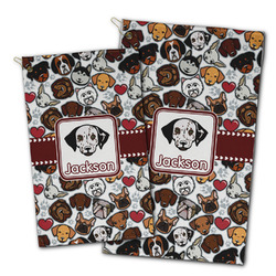 Dog Faces Golf Towel - Full Print w/ Name or Text
