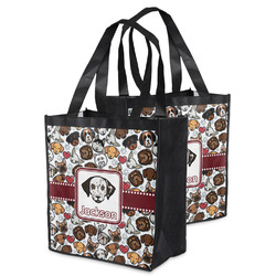 Dog Faces Grocery Bag (Personalized)