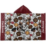 Dog Faces Hooded Towel (Personalized)