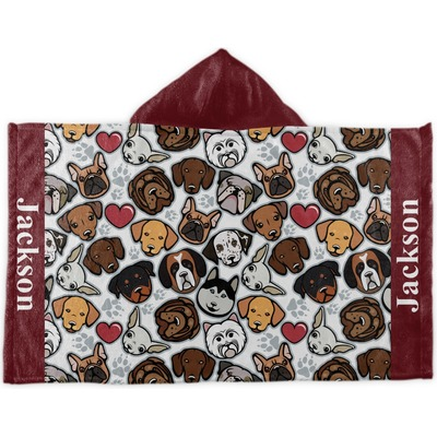 Dog Faces Kids Hooded Towel (Personalized)