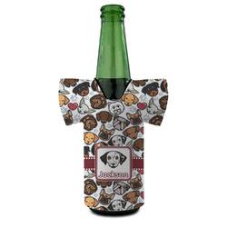 Dog Faces Bottle Cooler (Personalized)