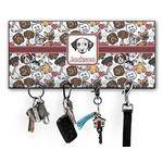 Dog Faces Key Hanger w/ 4 Hooks (Personalized)