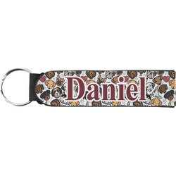 Dog Faces Neoprene Keychain Fob (Personalized)