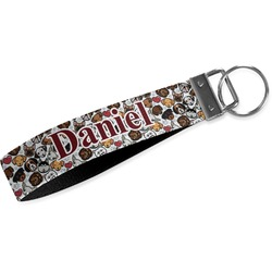 Dog Faces Wristlet Webbing Keychain Fob (Personalized)