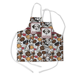 Dog Faces Kid's Apron w/ Name or Text