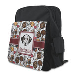 Dog Faces Kid's Backpack with Customizable Flap (Personalized)