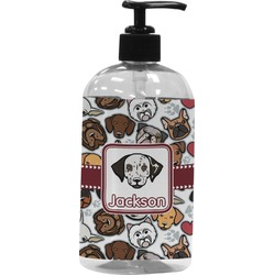 Dog Faces Plastic Soap / Lotion Dispenser (Personalized)