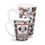 Dog Faces Latte Mug (Personalized)