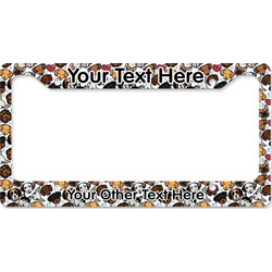 Dog Faces License Plate Frame - Style B (Personalized)