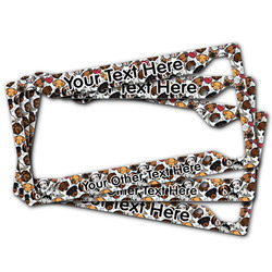 Dog Faces License Plate Frame (Personalized)