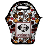 Dog Faces Lunch Bag w/ Name or Text