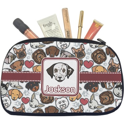 Dog Faces Makeup / Cosmetic Bag - Medium (Personalized)