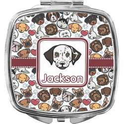 Dog Faces Compact Makeup Mirror (Personalized)