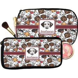 Dog Faces Makeup / Cosmetic Bag (Personalized)