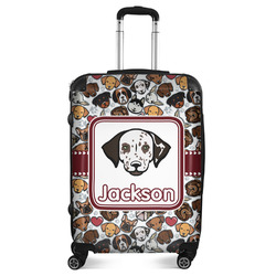 """Dog Faces Suitcase - 24""""Medium - Checked (Personalized)"""