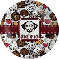 "Dog Faces Melamine Plate - 8"" (Personalized)"