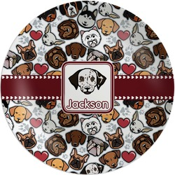 Dog Faces Melamine Plate (Personalized)