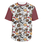 Dog Faces Men's Crew T-Shirt (Personalized)