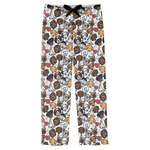 Dog Faces Mens Pajama Pants (Personalized)