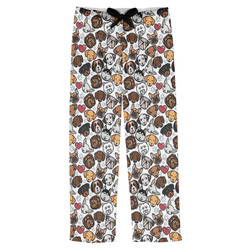 Dog Faces Mens Pajama Pants (Personalized)