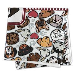 Dog Faces Microfiber Dish Rag (Personalized)